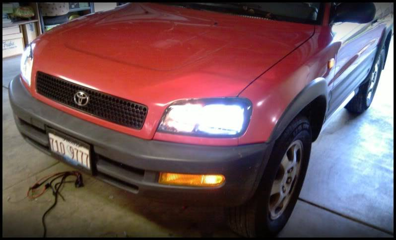 Spare Car Upgrade:  Its a RAV4, now with HIDs. IMAG0259-1