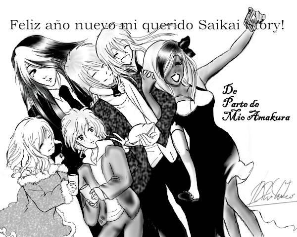 Feliz año nuevo saikai story <3!! Aonuevo