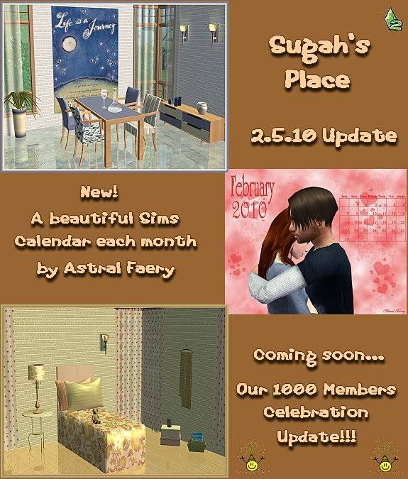 Archived 2010 Sugah's Place Updates 20510_Update