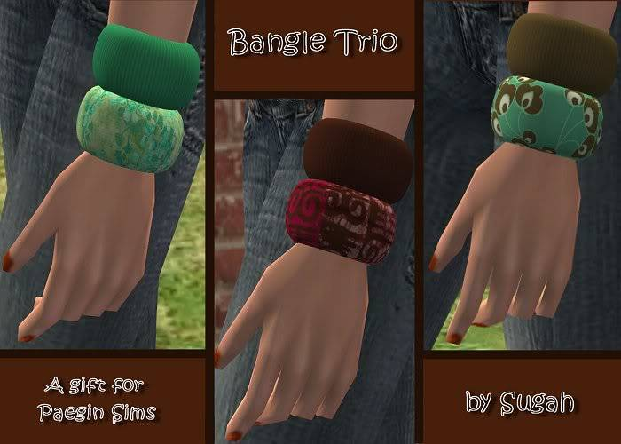 Bangles Trio @ Paegin Sims - Now available HERE! BangleTrio_Gift4PaeginSims