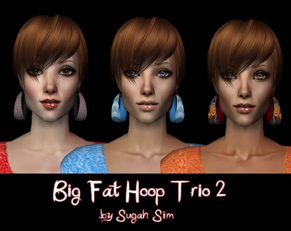 Big Fat Hoop Earrings @ Paegin Sims - Now available HERE! BigFatHoopTrio2