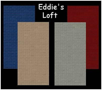 Eddie's Loft Brick Walls @ SIMply Edward - Now available HERE! EddiesLoft
