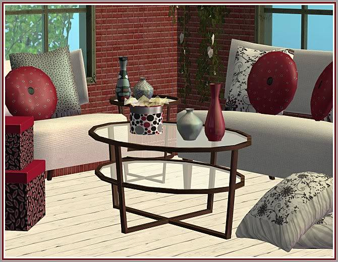 Experiment in Red & Gray Living and Aunt Sophie's Rosey Living @ Inspiring Sims ExperimentinRedGray-Closer-IS-1