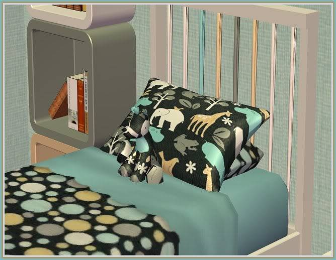 Autumn Inspired Entry Way and Gray Zoology Kids' Bedroom @ Inspiring Sims GrayZoology-Closer