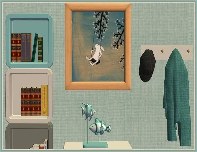 Autumn Inspired Entry Way and Gray Zoology Kids' Bedroom @ Inspiring Sims GrayZoology-Closer2