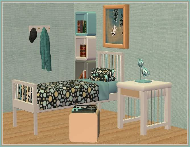 Autumn Inspired Entry Way and Gray Zoology Kids' Bedroom @ Inspiring Sims GrayZoology2