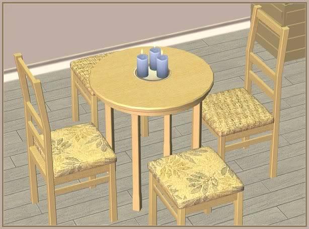 Jollain Dining in Mushroom Bisque @ Basic ... for Sims JollainMushroomBisqueDining-closer