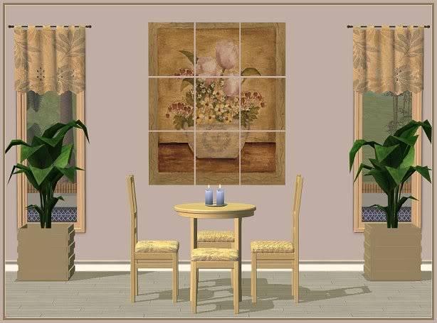 Jollain Dining in Mushroom Bisque @ Basic ... for Sims JollainMushroomBisqueDining