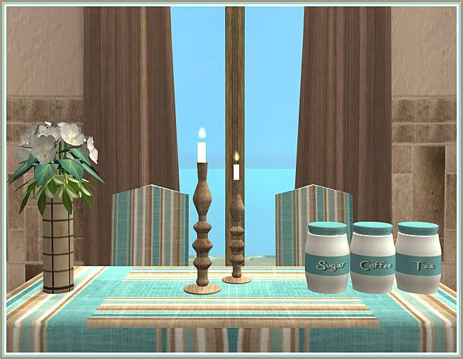 Keep Calm & Eat Cupcakes Kitchen and Inspired Kozy Kitchen Walls @ Inspiring Sims KeepCalmEatCupcakesDining-closer