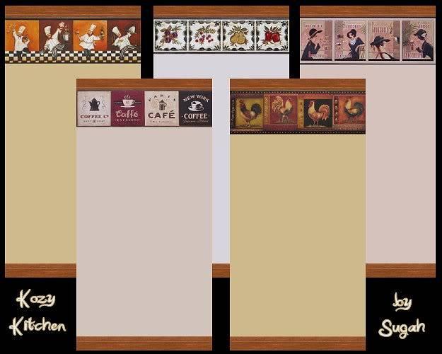 Kozy Kitchen Walls @ Simtopia - Now available HERE! KozyKitchenWalls