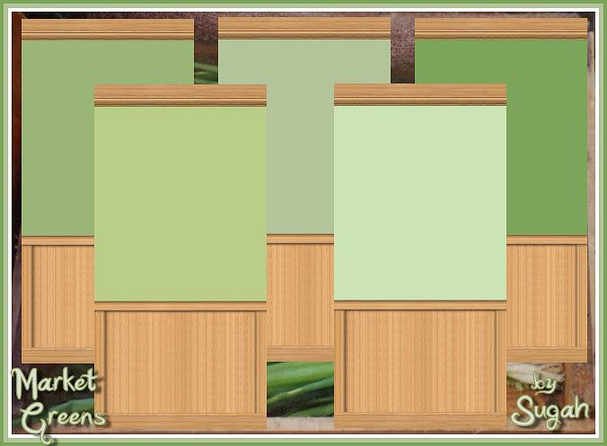 Market Greens Wall Set @ Simtopia - Now Available HERE! MarketGreens