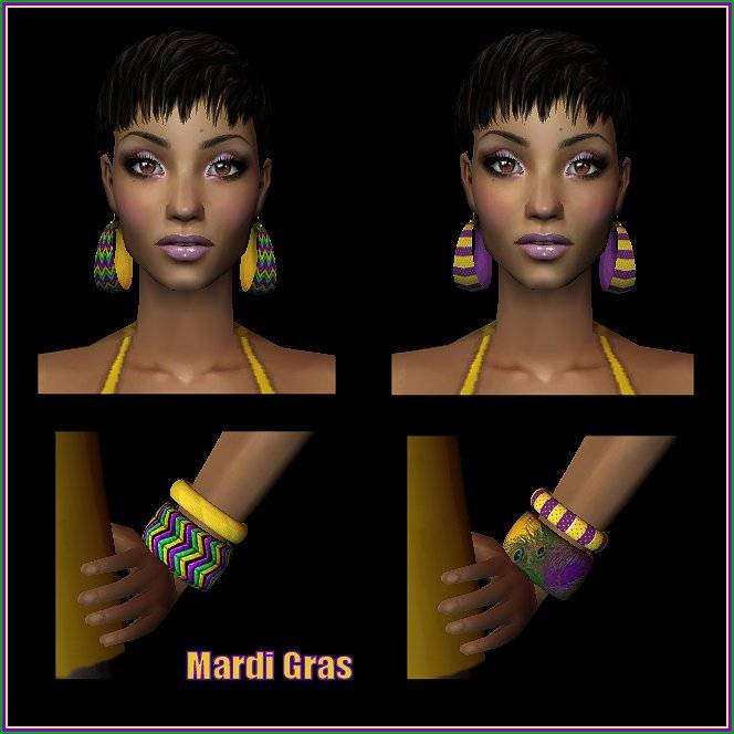 This March from the Ladies of Sugah's Place... MardiGrasJewelrySets_zps1af6c02c