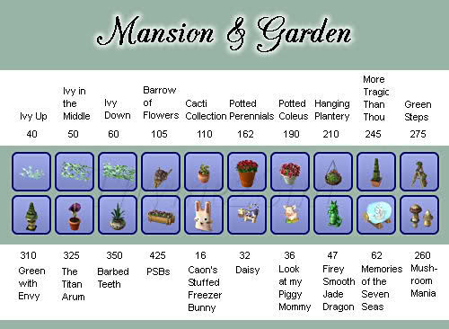Mansion & Garden SP 33zeiq0