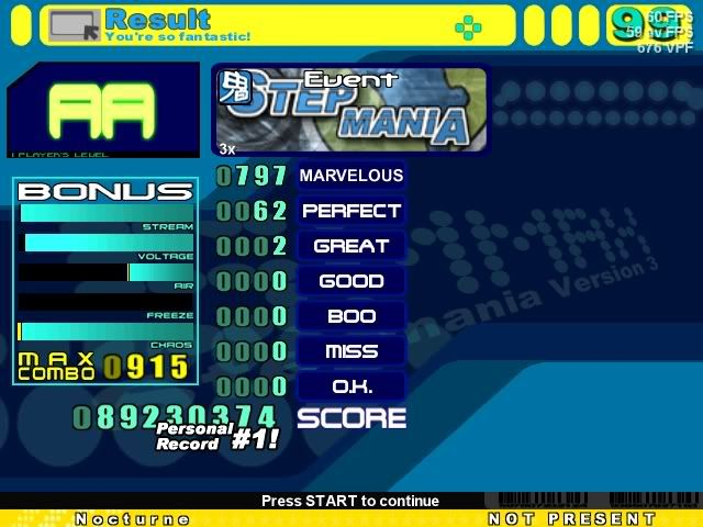 Post your SM Scores here! Quasar3x