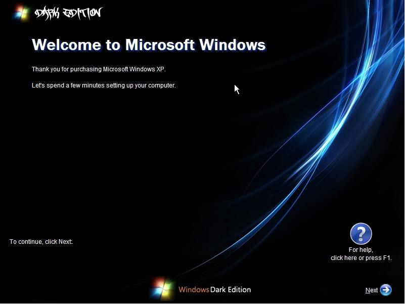 حصرياً : نسخة الويندوز الرائعة Windows XP SP3 Dark Edition بحجم 700 ميجا فقط !! تحميل مباشر وعلى اكثر من سيرفر ..!!! WinDark3