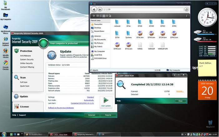 حصرياً : نسخة الويندوز الرائعة Windows XP SP3 Dark Edition بحجم 700 ميجا فقط !! تحميل مباشر وعلى اكثر من سيرفر ..!!! WinDark5