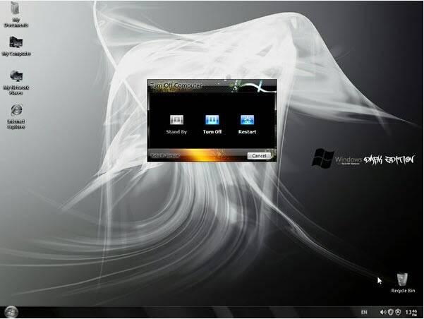حصرياً : نسخة الويندوز الرائعة Windows XP SP3 Dark Edition بحجم 700 ميجا فقط !! تحميل مباشر وعلى اكثر من سيرفر ..!!! WinDark6