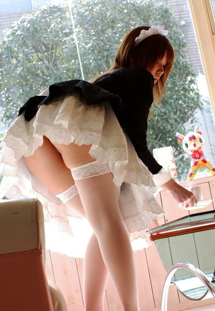 Garotas Japonesas! Maid-upskirt