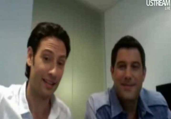IL DIVO USTREAM WEBCHAT  8/3/2011  PICS BY Starstruck 33