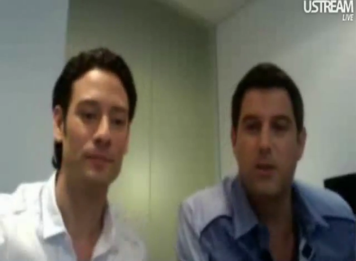 IL DIVO USTREAM WEBCHAT  8/3/2011  PICS BY Starstruck 765