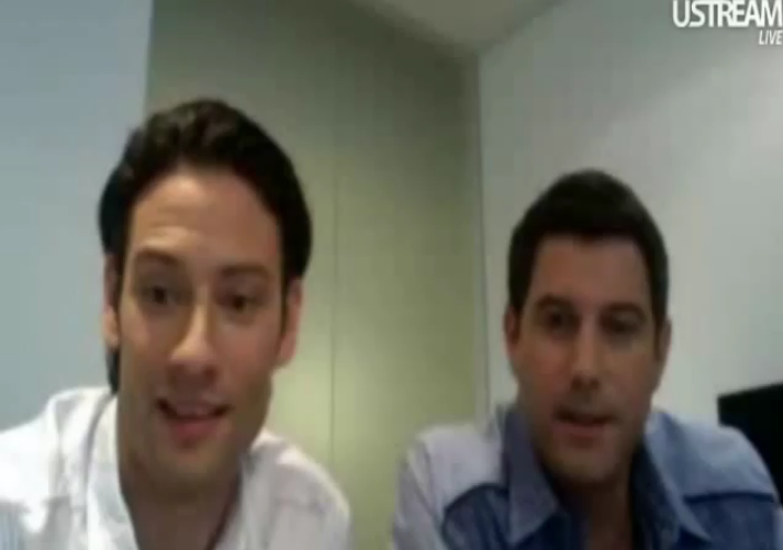 IL DIVO USTREAM WEBCHAT  8/3/2011  PICS BY Starstruck 88