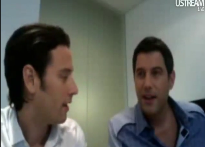 IL DIVO USTREAM WEBCHAT  8/3/2011  PICS BY Starstruck 989