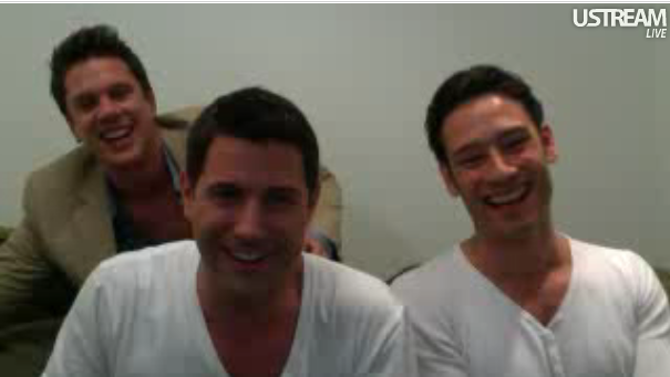 IL DIVO WEBCHAT #2  SEPT 7, 2011  Backstage of America's Got Talent.. Goodnight