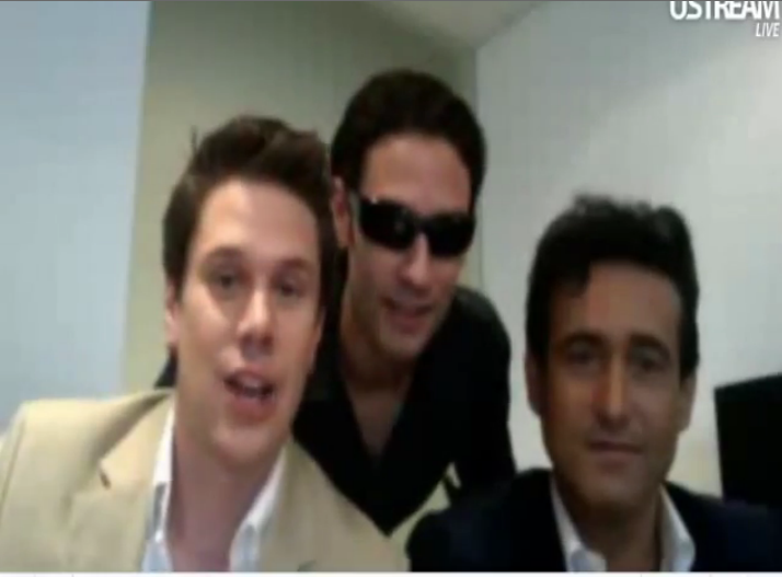 IL DIVO USTREAM WEBCHAT  8/3/2011  PICS BY Starstruck OMG