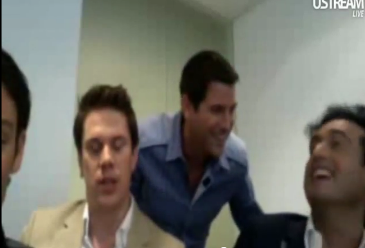 IL DIVO USTREAM WEBCHAT  8/3/2011  PICS BY Starstruck Omg4