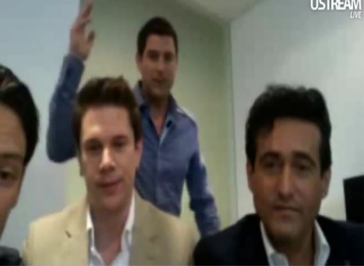 IL DIVO USTREAM WEBCHAT  8/3/2011  PICS BY Starstruck Tennis