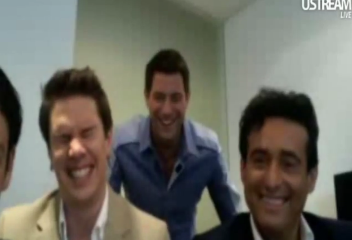 IL DIVO USTREAM WEBCHAT  8/3/2011  PICS BY Starstruck Tie