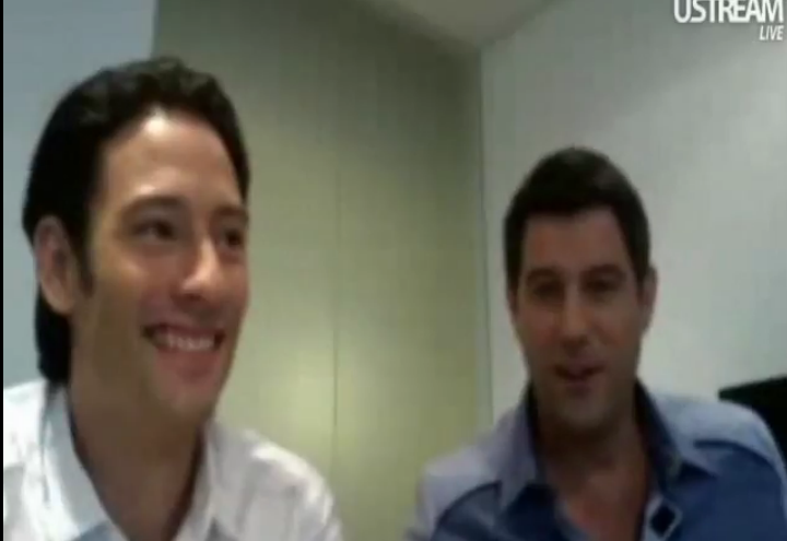 IL DIVO USTREAM WEBCHAT  8/3/2011  PICS BY Starstruck Wheels