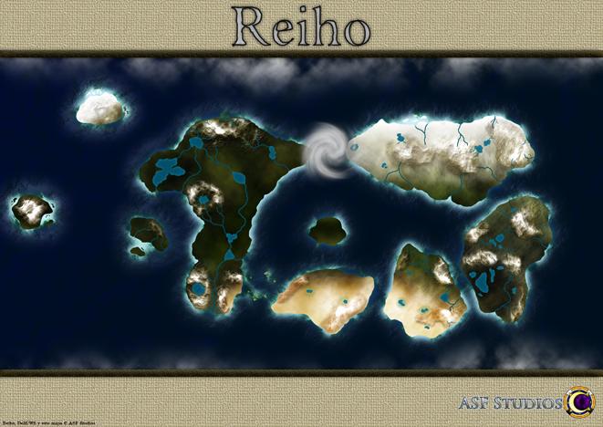 Geografía, Mapas ReihoWorldMapFlatEnhancedSS