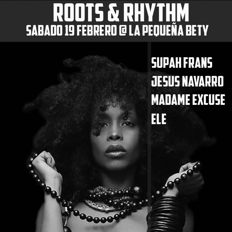 19/02 - Roots & Rhythm Party - La Pequeña Bety (Madrid) Flyerbw