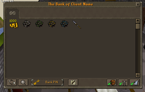 Server Beta Info. and Screenshots. Bank