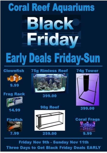 Coral Reef Aquariums Early Black Friday Sale! Coralreefaquariums