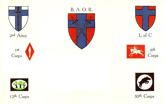 1945 BAOR Xmas Card