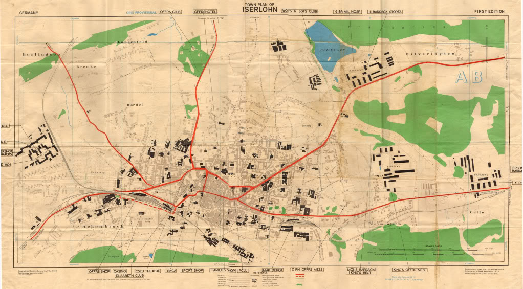 Iserlohn 1945 map