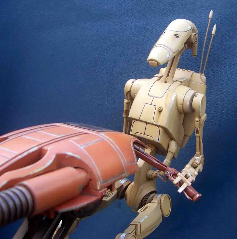 Star Wars -  Battle droid with Stap  Hf