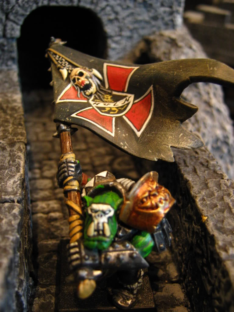 My Warhammer Banners BlackOrcparadinghiscapturedbanner