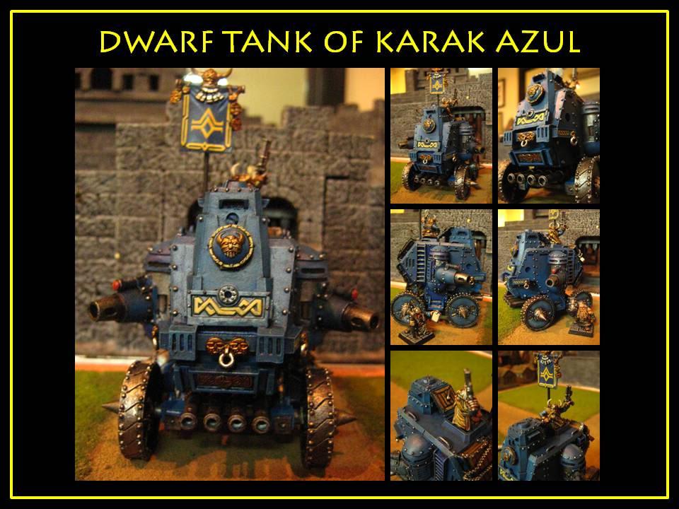 Para Dani y a todos los que nos gustan los tapones DwarfTankfromKarakAzul