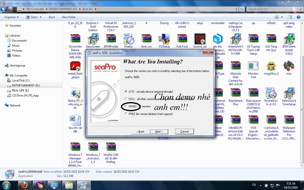 phần mềm Sea Pro( chi tiết cho việc Lập tuyến đường) Nh1