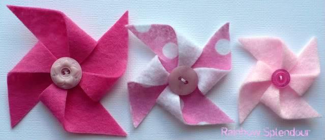 Felt pinwheels (plains and spotties) P1090729