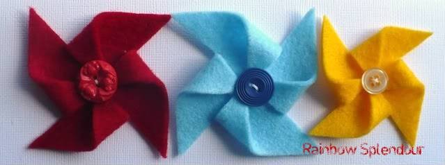 Felt pinwheels (plains and spotties) P1090730