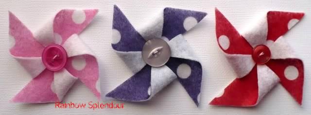 Felt pinwheels (plains and spotties) P1090736
