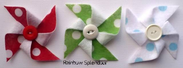 Felt pinwheels (plains and spotties) P1090737