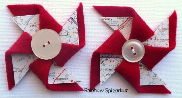 Felt and paper pinwheels P1090747