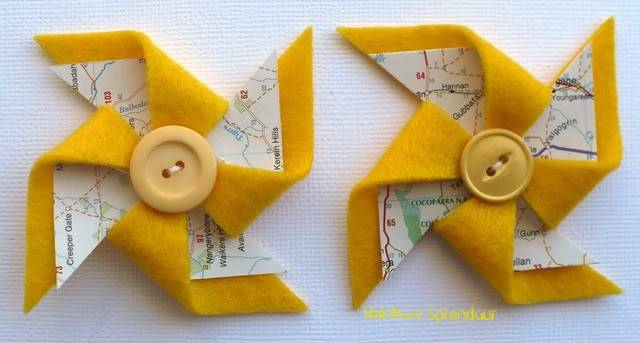 Felt and paper pinwheels P1090756