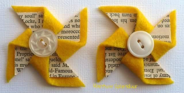 Felt and paper pinwheels P1090771