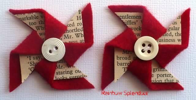 Felt and paper pinwheels P1090772